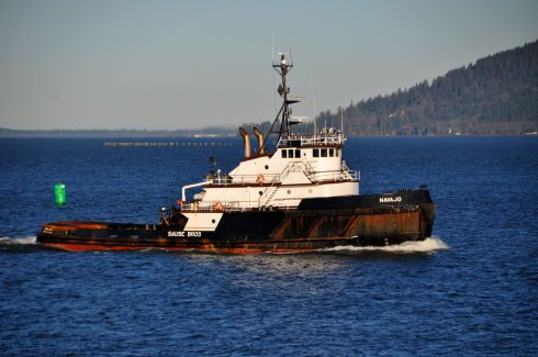 Close up of the tug