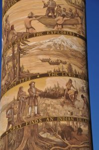 Detail of the column. The closer you stand, the more remarkable it is.