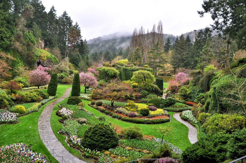 My friend Mads and I went on a coast road trip from Oregon to Vancouver, BC, and stopped at The Butchart Gardens on Vancouver Island on the way.