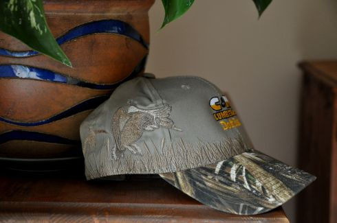 If I wear this hat, I'll fit right in among the locals in Rainier. But I'll be the only one with the gorgeous goose embroidered on the side. Look at that!