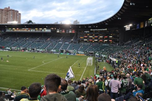 Providence Park before the last Timbers home game.