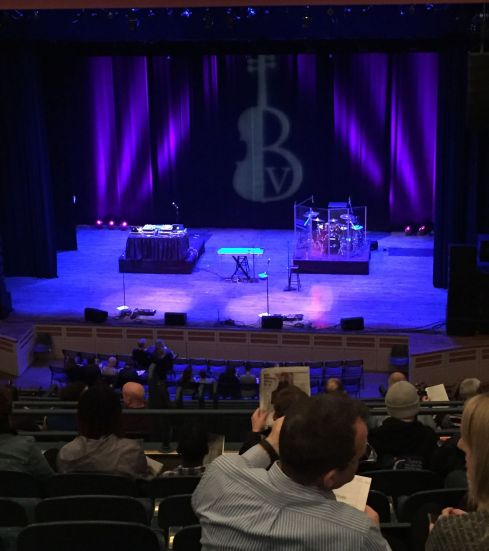 Stage before Black Violin's show