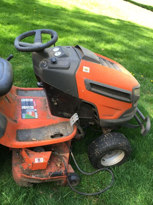 Serpentine belt came off the deck the first time I tried to use the mower this year.