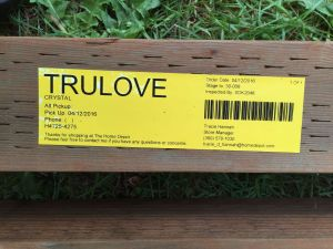 I was tickled by the official label slapped onto my lumber order.