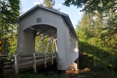 A covered bridge near the campground.