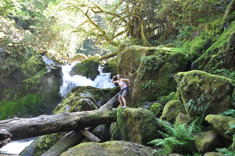 """At House Rock Falls. Tara said, """"Pose!"""" So I did."""