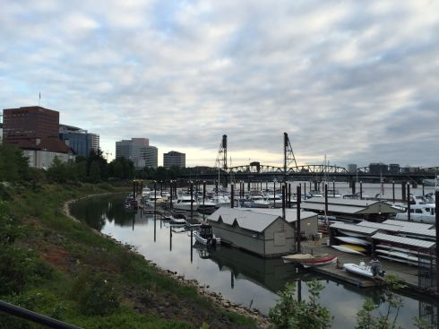 I started running again, in the mornings before work. Here's downtown Portland at my favourite time of day.
