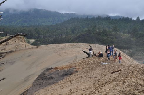 Our group climbed a sand dune at Cape Kiwanda and were treated with coastline views.