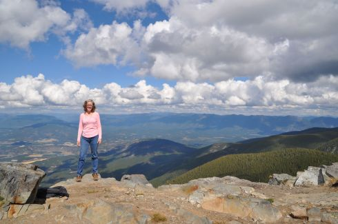I am standing on top of Clifty Mountain in north Idaho on a lovely Labor Day.