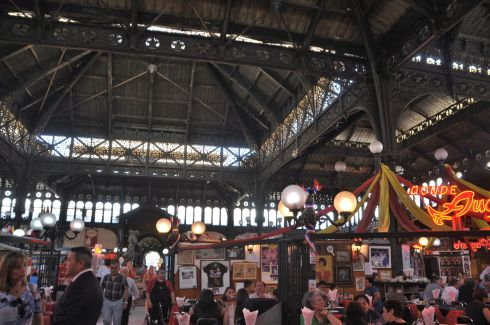 Inside the huge fish market and Donde Augusto, the restaurant.