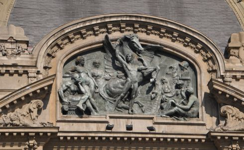 Detail from the front of the buillding.
