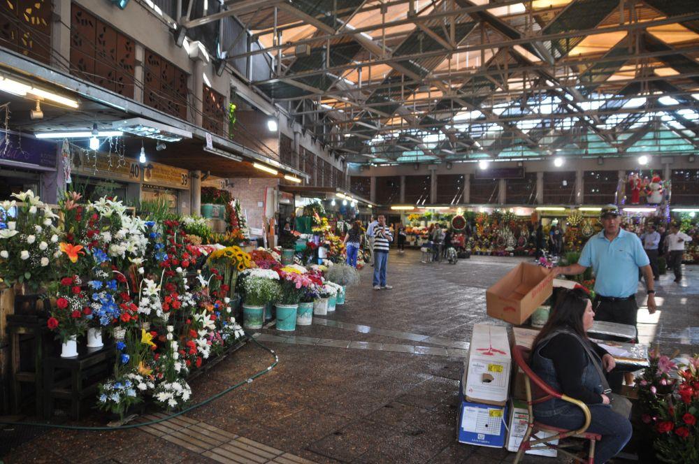 The flower market.
