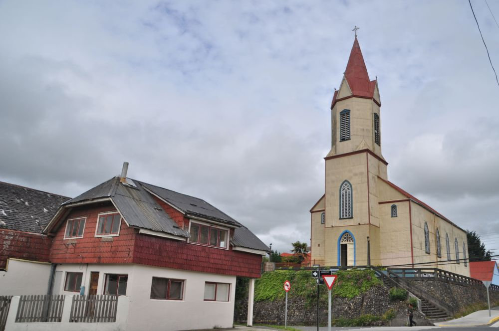 A view of the church in the center of town.