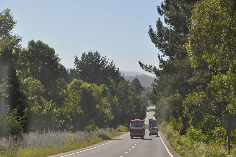 Heading down route 199 in Chile.