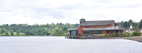 The theatre on the water in Frutillar.