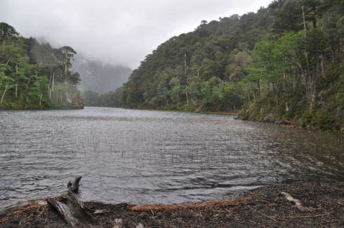Laguna Del Toro in the pouring rain.