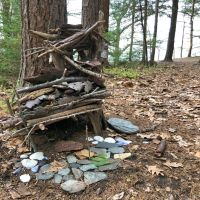 Fairy Houses on Mackworth Island