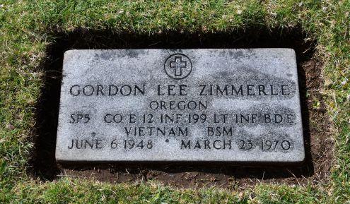 Gordon Lee Zimmerle. Bronze Star Medal. Died in Vietnam at 21 years old.